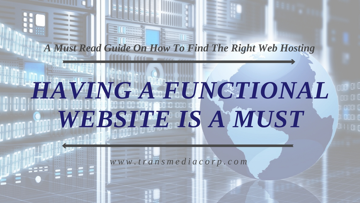 Having a functional website is a must